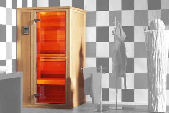 Badezimmersaunen - Eine ideale Lösung für kleine Räume.